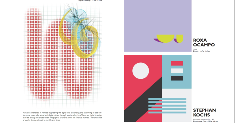 Digital Drawings published in 1340 Art Magazine