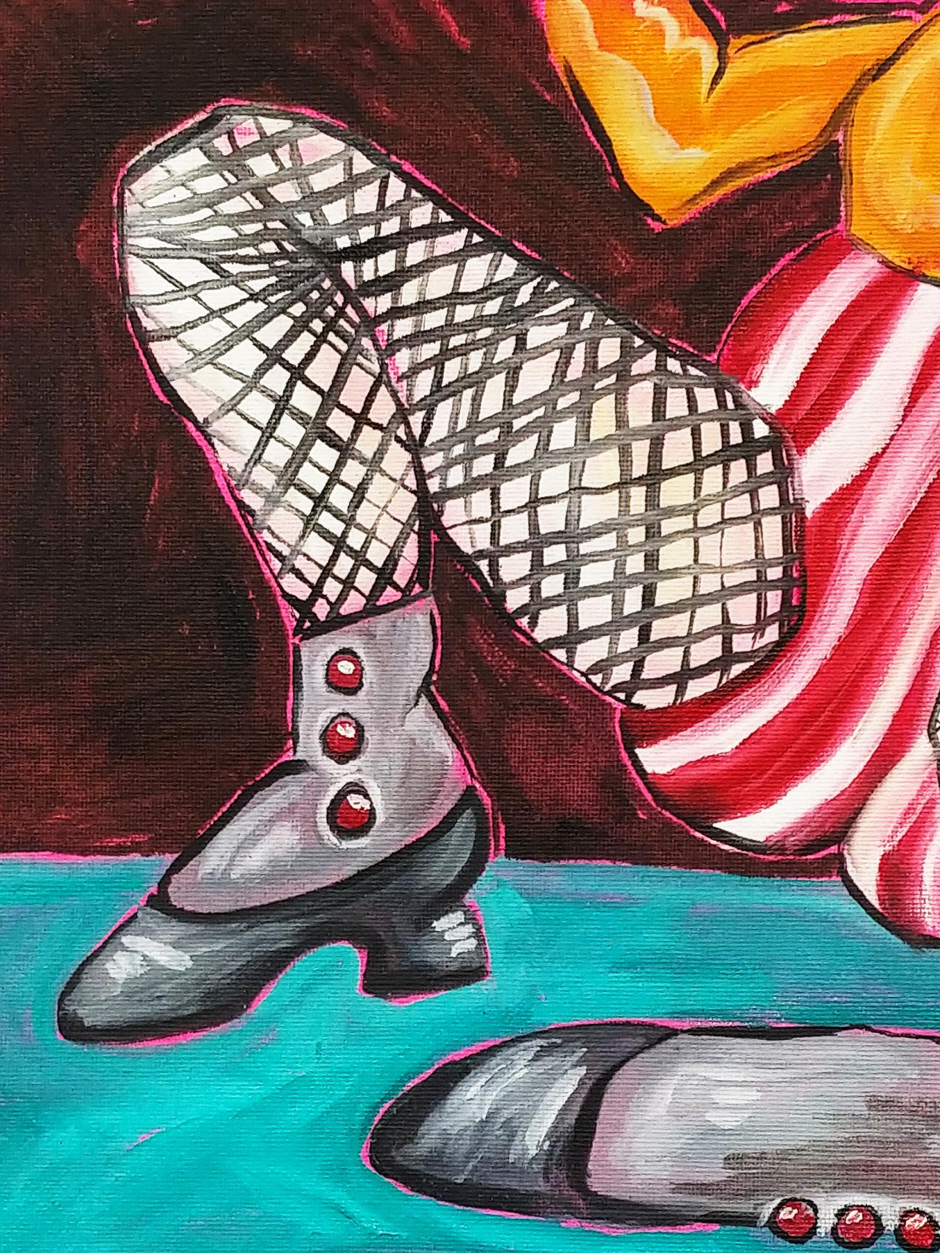 Oil School Breakin' (2020)Oil on canvas paper12