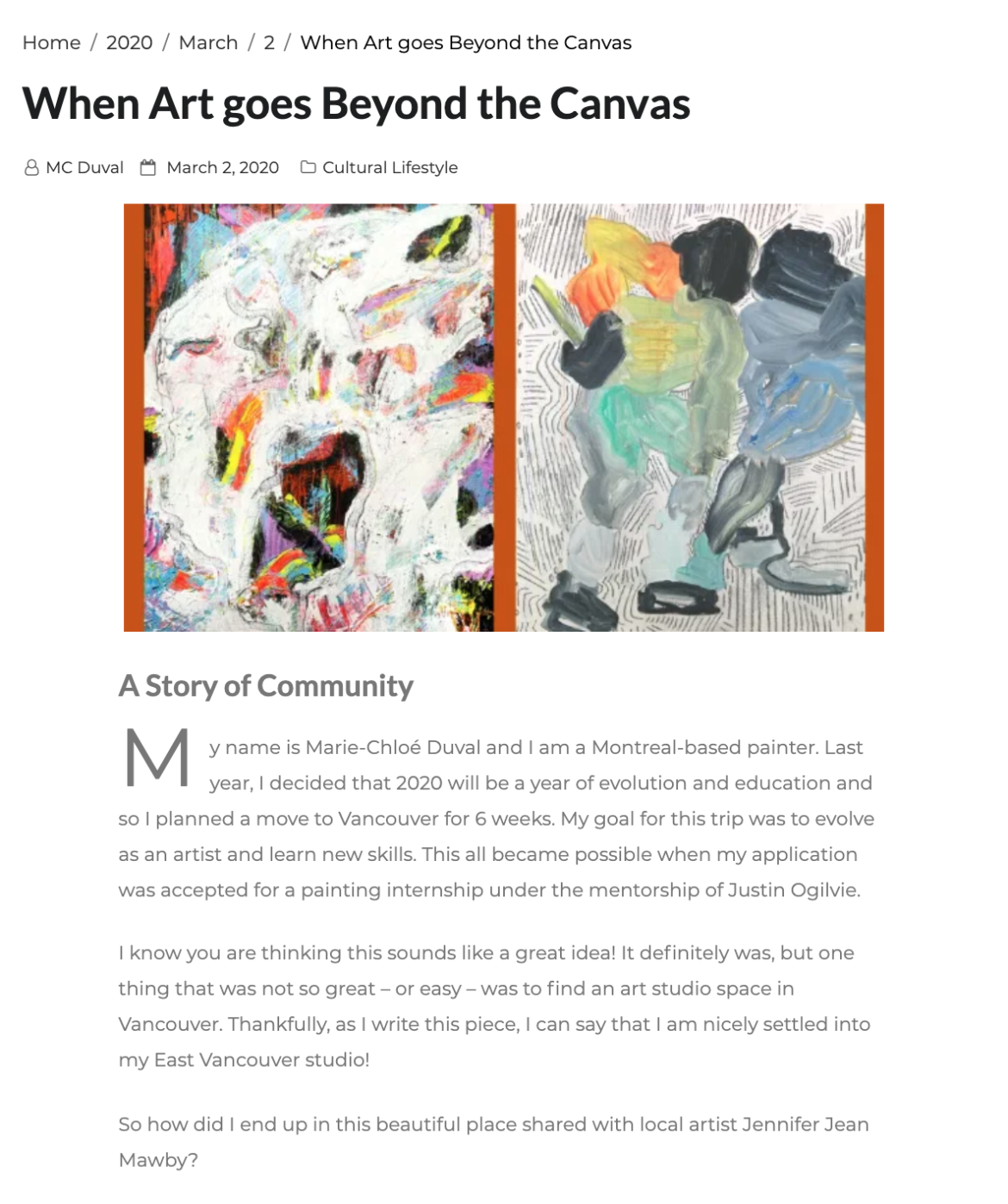 Art and Community on the Lapin Art Blog